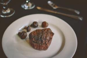 steak at waukesha area steakhouse Johnny Manhattan's